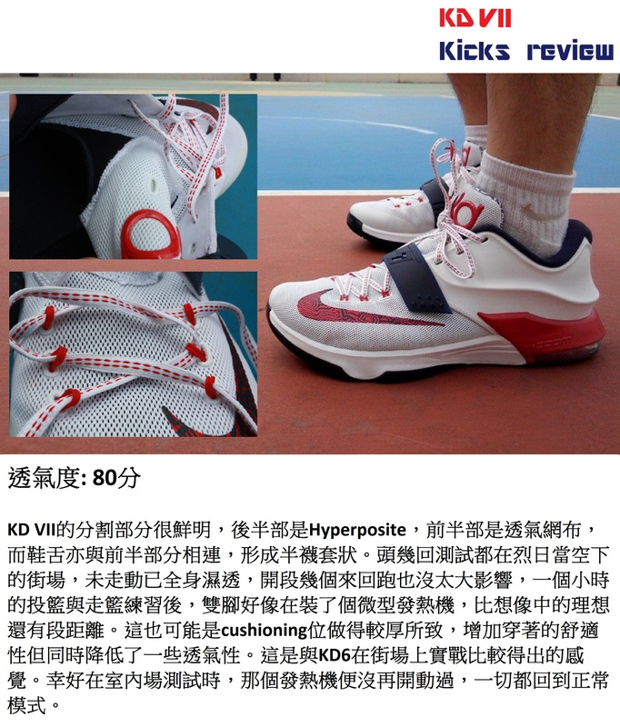 Sole Agent Alex - KD VII Kicks review - 2透氣度