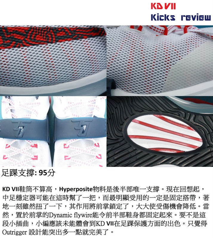 Sole Agent Alex - KD VII Kicks review - 4B足踝支撐