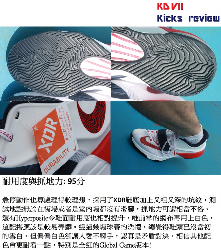 Sole Agent Alex - KD VII Kicks review - 5耐用度與抓地力